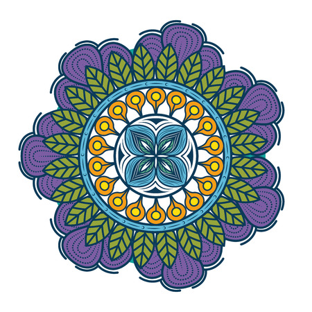 Mandala icon over white background colorful design vector illustration