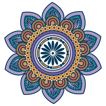 floral Mandala icon over white background colorful deisgn vector illustration Reklamní fotografie - 83723297