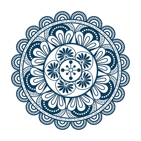 Mandala icon over white background colorful design vector illustration Reklamní fotografie - 83723307