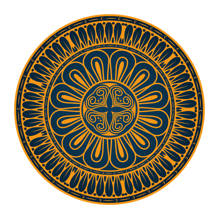 白地カラフルなデザインのベクトル図を曼荼羅アイコン