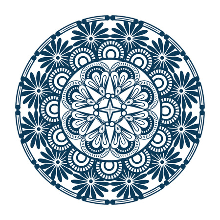 Mandala icon over white background colorful design vector illustration Stok Fotoğraf - 83723311