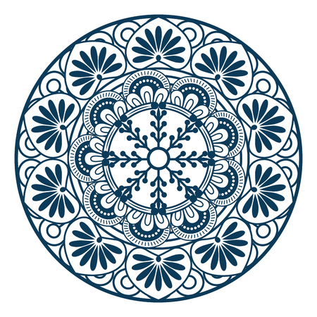 Mandala icon over white background colorful design vector illustration Reklamní fotografie - 83723370