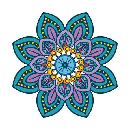 floral Mandala icon over white background colorful deisgn vector illustration Reklamní fotografie - 83723373