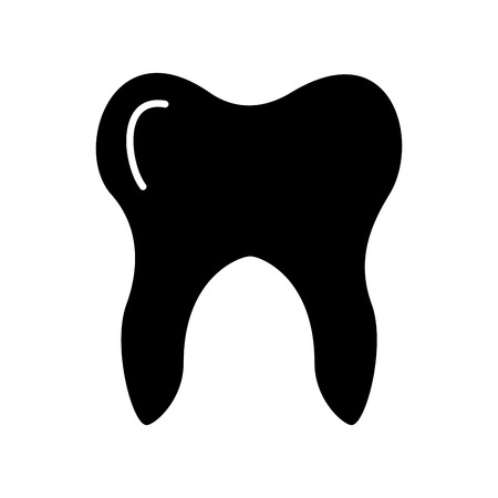 Human tooth isolated icon vector illustration design Illusztráció