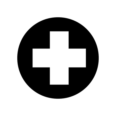 medical cross isolated icon vector illustration design