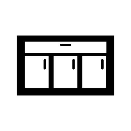 Houten lade geïsoleerde pictogram vector illustratie ontwerp Stock Illustratie