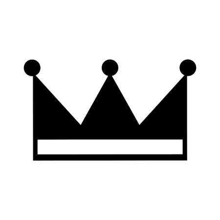 king crown isolated icon vector illustration design Imagens - 83786654