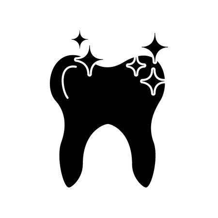 Menselijke tand met ontwerp van de sterren het vectorillustratie Stock Illustratie