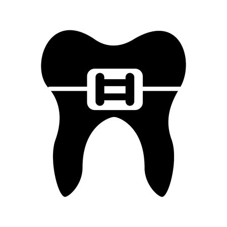ブラケット ベクトル イラスト デザインとヒトの歯