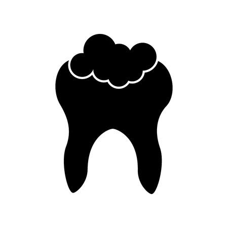 Menschlicher Zahn mit Zahnpasta Vektor-Illustration Design Standard-Bild - 83782698