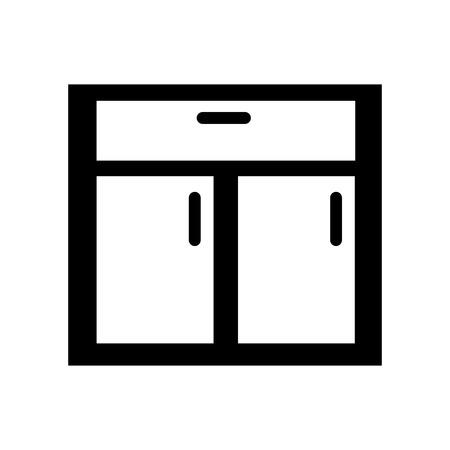 나무 서랍 격리 아이콘 벡터 일러스트 디자인 일러스트