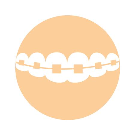 矯正のアイコン ベクトル イラスト デザインでの義歯  イラスト・ベクター素材