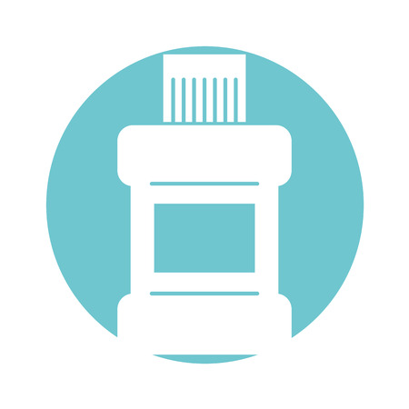mouthwash bottle isolated icon vector illustration design