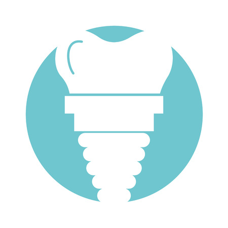 dental implant isolated icon vector illustration design
