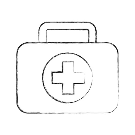 case: Medical kit isolated icon vector illustration design Illustration