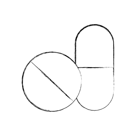Capsule drug isolated icon vector illustration design Illusztráció