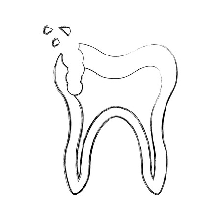 Human tooth with decay vector illustration design Stock fotó - 83798153