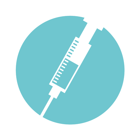 Injection medical isolated icon vector illustration design