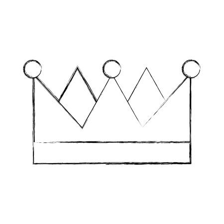 分離された王の王冠のアイコン ベクトル イラスト デザイン
