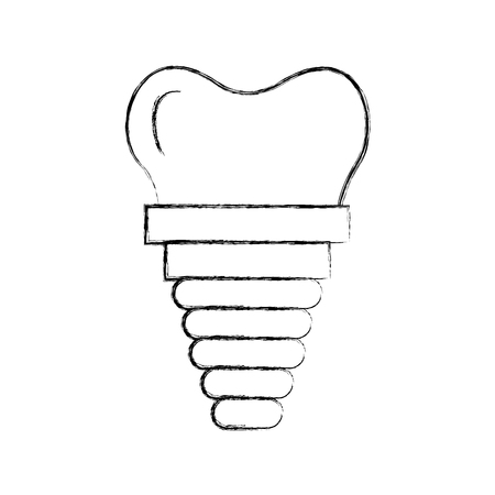 Dental implant isolated icon vector illustration design Иллюстрация