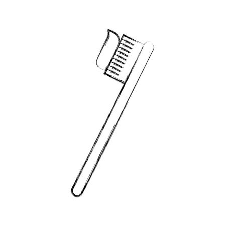 Dental toothbrush isolated icon vector illustration design Illustration