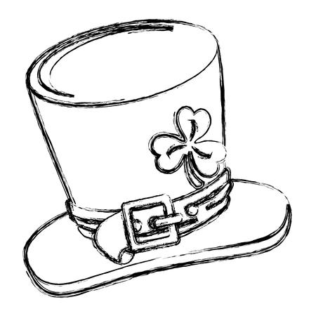 Irish elf hat saint patrick celebration vector illustration design