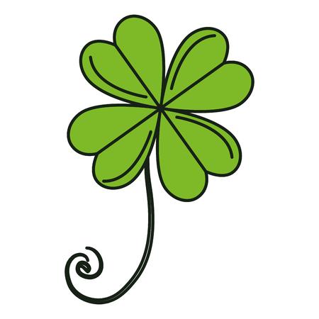clover leaf shape: saint patrick clover icon vector illustration design Illustration