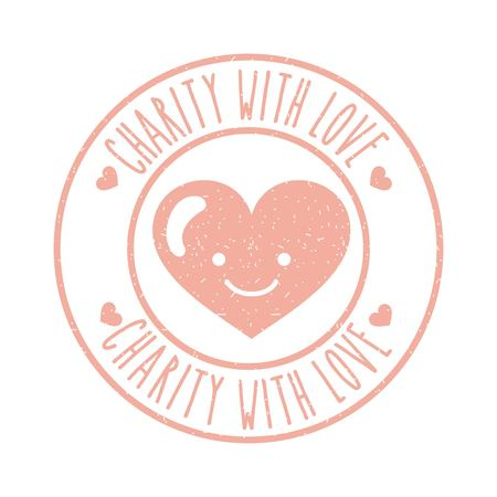 Charity with love icon. Vector illustration design graphic