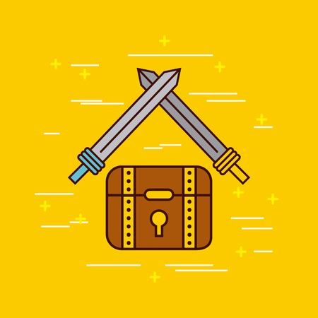 Objects of classic video games. Vector illustration design graphic