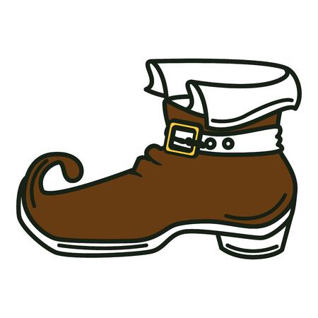 leprechaun boot isolated icon vector illustration design Illustration