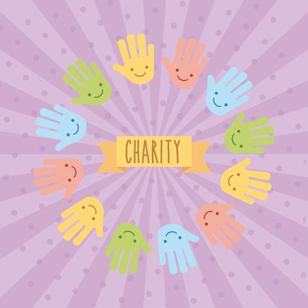 Graphic design for childrens charity donation. Vector illustration
