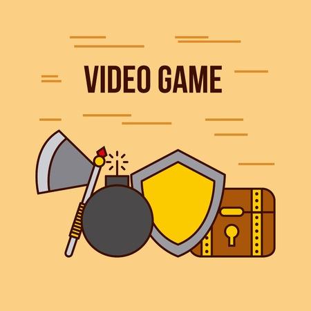 개체 비디오 게임 고전적인 아이콘 벡터 일러스트 레이 션 디자인 그래픽 일러스트