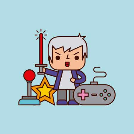 Character video games classic icon vector illustration design graphic. Illustration