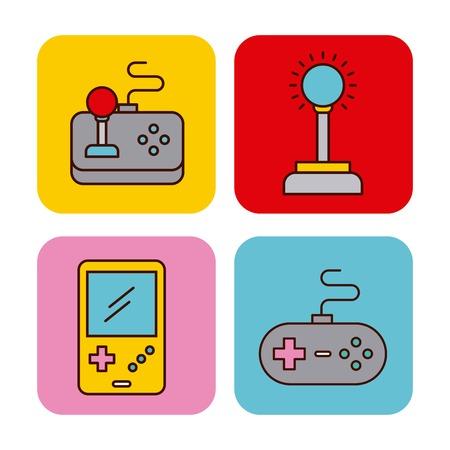 Icon vector video games classic illustration design graphic