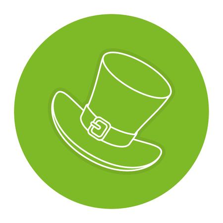 elves: Irish elf hat saint patrick celebration vector illustration design