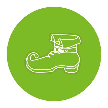 elves: leprechaun boot isolated icon vector illustration design Illustration