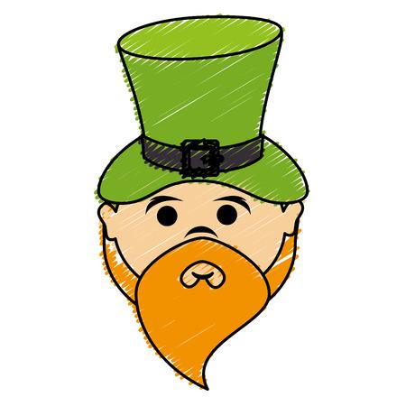 Leprechaun avatar character icon vector illustration design. Illustration