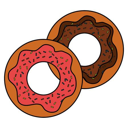 달콤한 도넛 격리 아이콘 벡터 일러스트 디자인