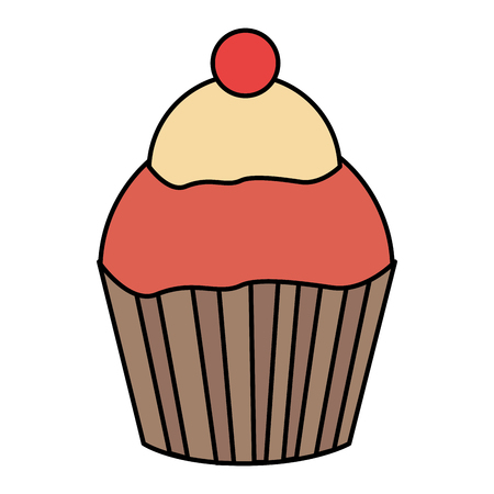 sweet cupcake isolated icon vector illustration design Ilustração