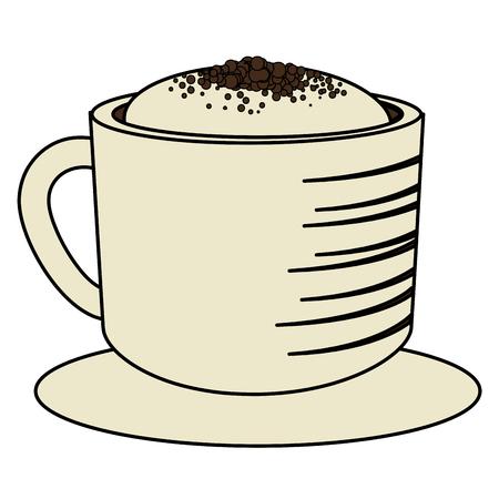 koffiekopje geïsoleerd pictogram vector illustratie ontwerp