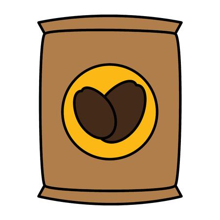 coffee sack isolated icon vector illustration design Banco de Imagens - 83799382