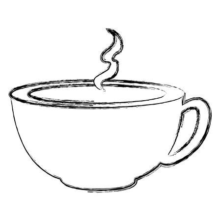ontwerp van de het pictogram vectorillustratie van de koffiekop het hete Stockfoto