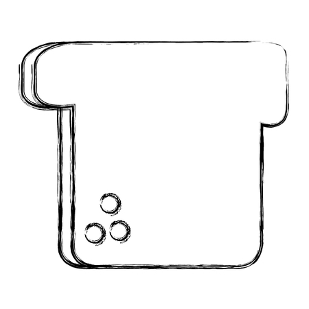 Köstliche Toast Brot Symbol Vektor-Illustration Design Standard-Bild - 83789924