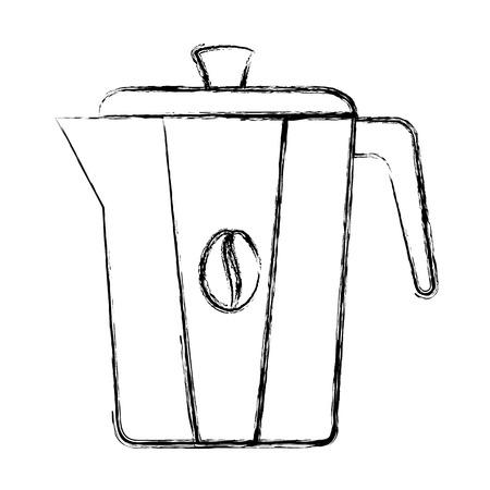 Bollitore caffè isolato icona illustrazione vettoriale illustrazione Archivio Fotografico - 83789932