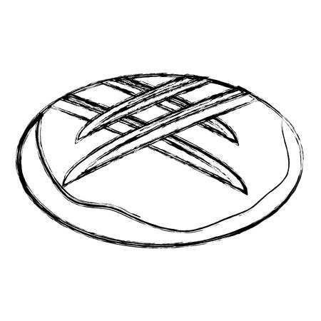 Köstliches Brot isoliert Symbol Vektor-Illustration , Design , Standard-Bild - 83789944