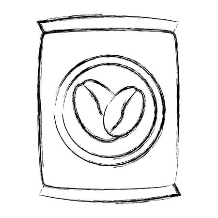 koffie zak geïsoleerd pictogram vector illustratie ontwerp Stock Illustratie