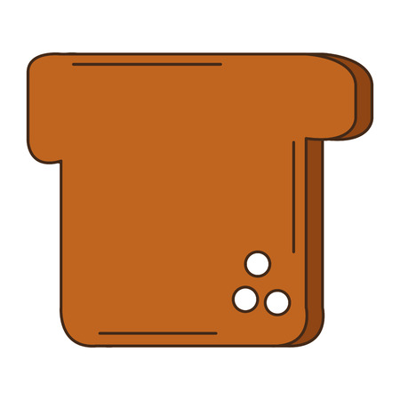 delicious toast bread icon vector illustration design