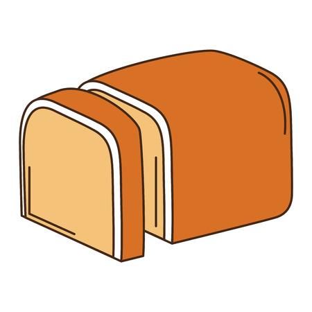 delicious toast bread icon vector illustration design Zdjęcie Seryjne - 83797108