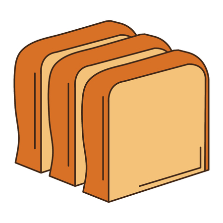toasted: delicious toast bread icon vector illustration design