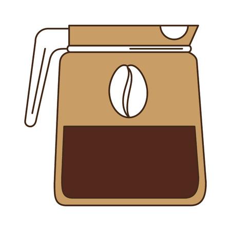 Bollitore caffè isolato icona illustrazione vettoriale illustrazione Archivio Fotografico - 83786955
